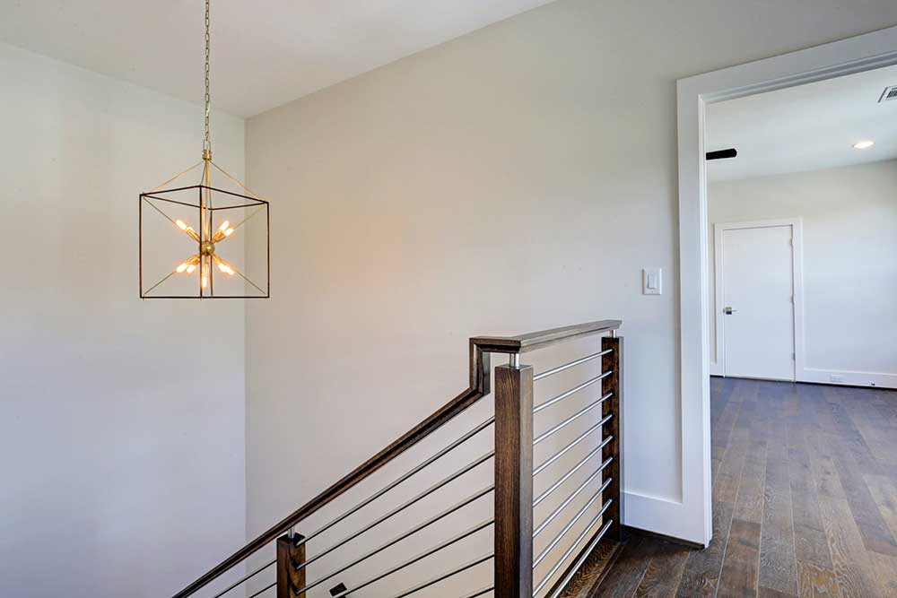 Fab Chandelier Illuminates The Stairwell