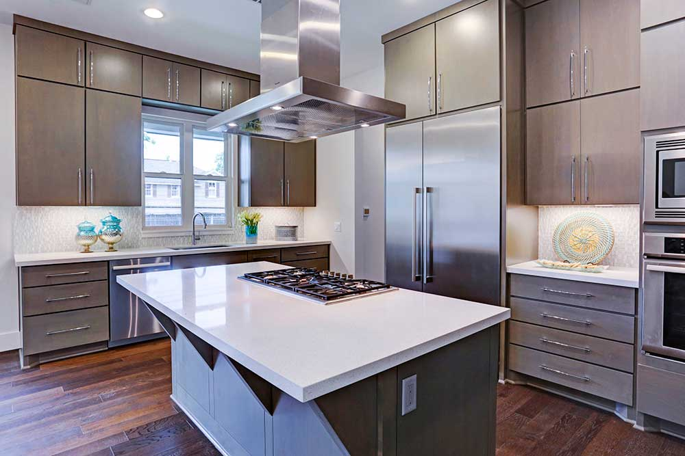 The Kitchen Boasts Floor To Ceiling Cabinets And Plenty Of Counter Space